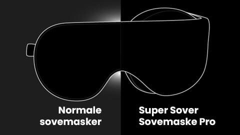 Super Sovemaske Pro - 100% mørklægning og tæthed
